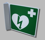 AED pictogram op bord haaks 15 bij 15 _