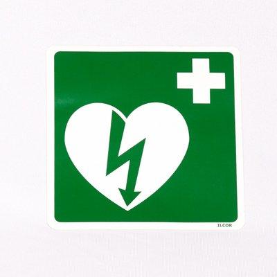 AED Pictogram op sticker 15 bij 15