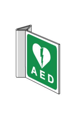 AED pictogram op bord haaks 15 bij 15