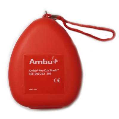 Ambu beademingsmasker hardcase met zuurstofventiel (5 stuks)