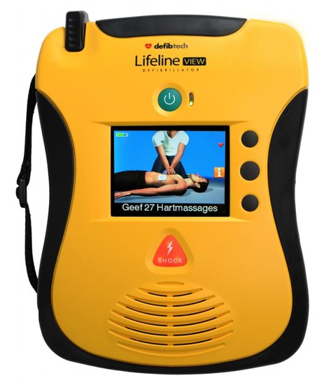   meest geavanceerde AED op de markt   helder LCD-scherm   aantrekkelijke prijs   GRATIS tas   8 jaar garantie  